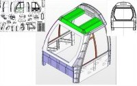 Sheet metal and structure design - Cabine